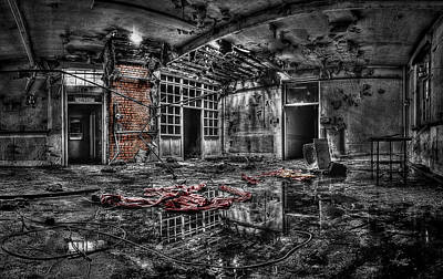 Photograph - Derelict Hospital Ward by Andrew Munro