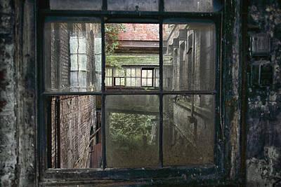 Derelict Industrial Windows Art Print by Russ Dixon