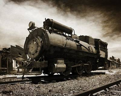 Photograph - Derelict Locomotive by Timothy Bulone