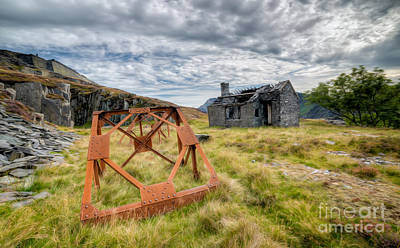 Abandoned Digital Art - Derelict Quarry Cottage by Adrian Evans