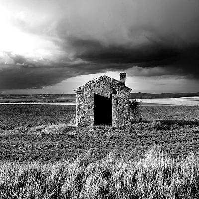 Delapidated Photograph - Derelict Stone Shed In  Auvergne. France by Bernard Jaubert