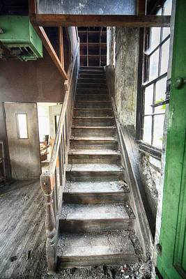 Derelict Wooden Staircase Print by Russ Dixon