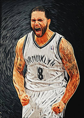 Deron Williams Art Print by Taylan Apukovska
