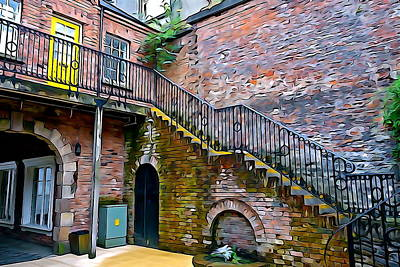 Photograph - Derry Courtyard by Charlie and Norma Brock
