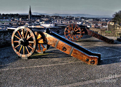 Photograph - Derry Walls Cannons by Nina Ficur Feenan