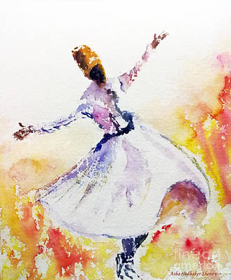 Sufi  Or Dervish Dancer Art Print