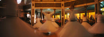 Sufism Photograph - Dervishes Dancing At A Ceremony by Panoramic Images