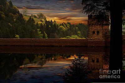 Derwent Dam Reflections Art Print