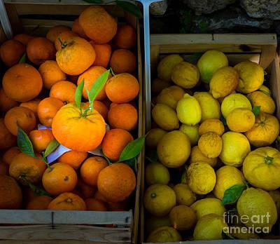 Orange Photograph - Des Oranges Et Des Citrons by Inge Johnsson