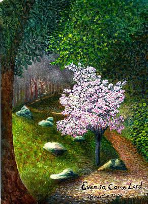 Saldana Painting - Descanso Gardens by Catherine Saldana
