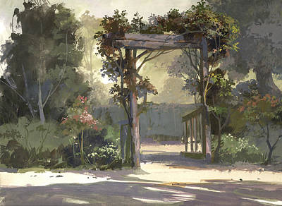 Pastel Colors Painting - Descanso Gardens by Michael Humphries
