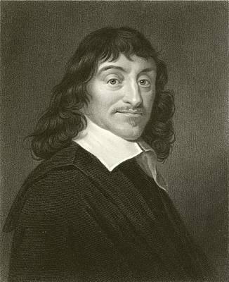 Mathematics Drawing - Descartes by English School