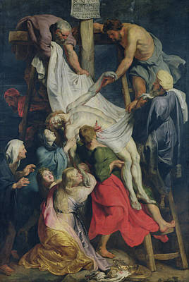 Descent From The Cross, 1617 Art Print by Peter Paul Rubens