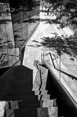 Photograph - Descent Into A World Of Shadows And Reflections by Cornelis Verwaal