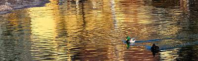 Jerry Sodorff Royalty-Free and Rights-Managed Images - Deschutes River Reflections 21668 by Jerry Sodorff