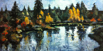 Deschutes Painting - Deschutes River Trail by Mary Medrano