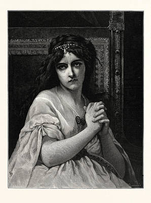 Desdemona Drawing - Desdemona. After Cabanal. Desdemona Is A Character by English School