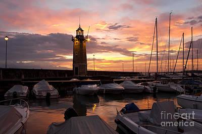 Desenzano Del Garda Marina Old Lighthouse Sunrise Art Print by Kiril Stanchev