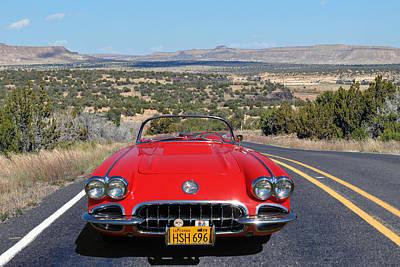 Photograph - Desert 58 Vette by Bill Dutting
