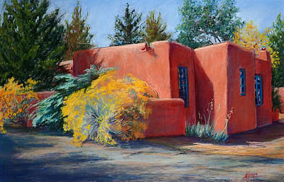 Painting - Desert Adobe by Mary Knape