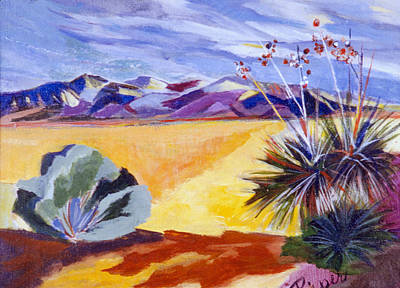 Desert And Mountains Art Print