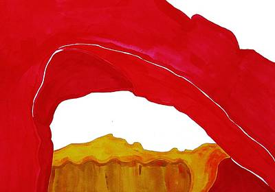 Painting - Desert Arch Original Painting Sold by Sol Luckman