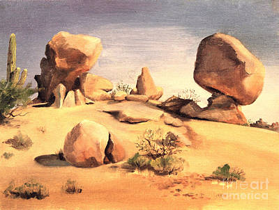 Painting - Desert Balanced Rock by Art By Tolpo Collection