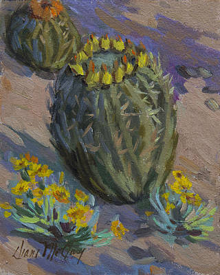 Painting - Desert Barrel Cactus by Diane McClary