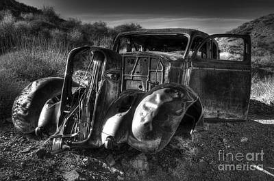 Abandoned Cars Photograph - Desert Beauty Death Valley California by Bob Christopher