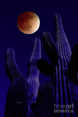 Photograph - Desert Blood Moon by Patrick Witz