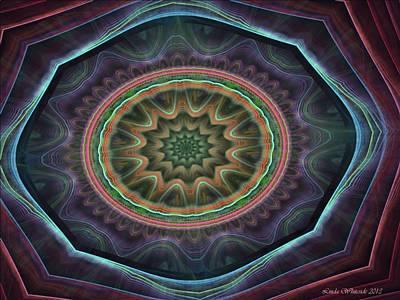 Art Print featuring the digital art Desert Blossom by Linda Whiteside