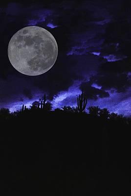 Desert Blue Art Print by Alfredo Martinez