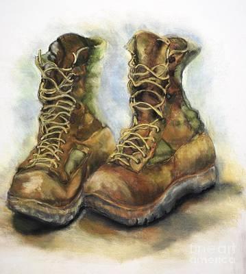 Desert Boots Original by Leisa Shannon Corbett