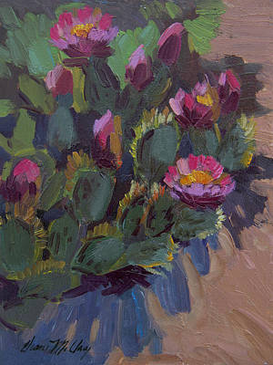 Painting - Desert Cactus 2 by Diane McClary