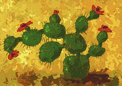 Painting - Desert Cactus In Bloom by Sandra Selle Rodriguez