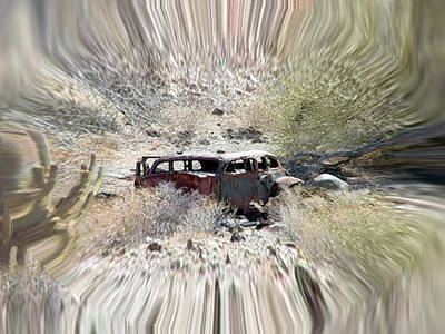 Digital Art - Desert Car by Dennis Buckman