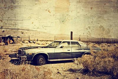Route 66 Photograph - Desert Car by Ellen and Udo Klinkel