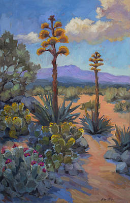 Southwest Painting - Desert Century Plants by Diane McClary