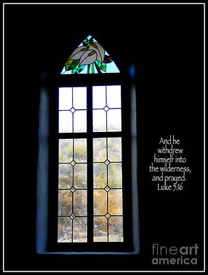 Desert Church Window With Scripture Art Print