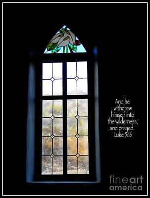 Photograph - Desert Church Window With Scripture by Avis  Noelle