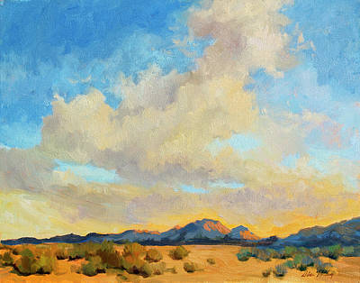 Mountain Sunset Painting - Desert Clouds by Diane McClary