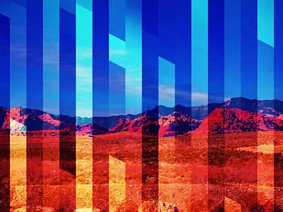 Las Vegas Artist Mixed Media - Desert Crystal by Michelle Dallocchio