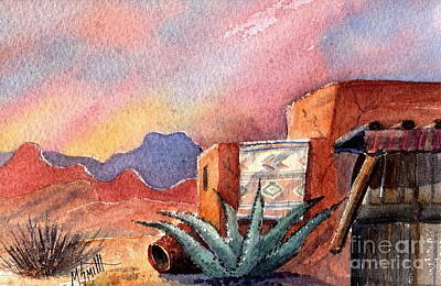 Pottery Painting - Desert Doorway by Marilyn Smith