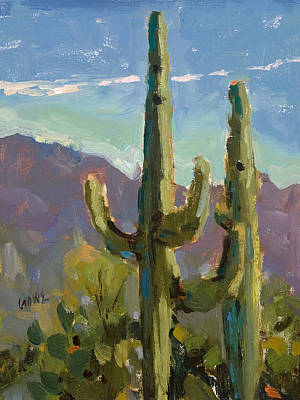 Sonora Painting - Desert Drama by Judy Crowe