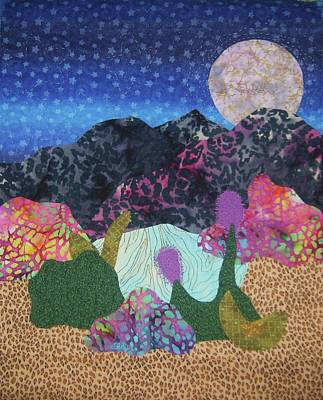 Art Print featuring the tapestry - textile Desert Dreaming by Ellen Levinson