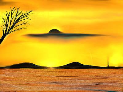 Desert Eclipse Art Print by Yul Olaivar