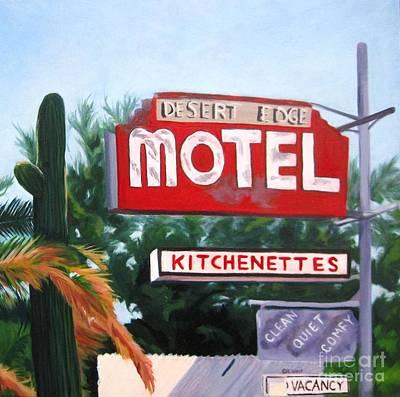 Kitchenette Painting - Desert Edge Motel by Katrina West