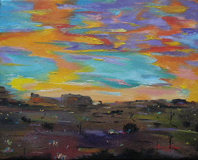 Painting - Desert Finale by Judith Rhue