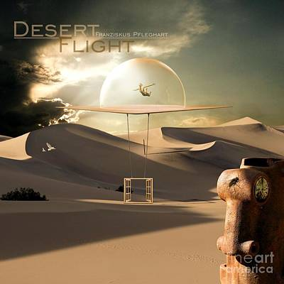 Hot Mixed Media - Desert Flight by Franziskus Pfleghart