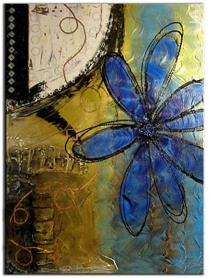 Amber Desert Painting - Desert Flower by Dora Woodrum